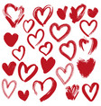 hearts collection hand drawn vector image