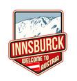 innsburck travel sticker vector image