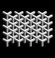 Interlocking 3d cubes vector image vector image