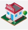 isometric shop open 24 hour vector image vector image
