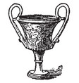 kantharos is a type ancient greek cup used vector image vector image