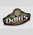 logo for darts vector image