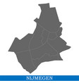 map is a city of netherlands vector image vector image