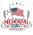Memorial Day weekend greeting card vector image vector image