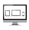 Monitor laptop phone tablet on a white background vector image