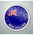 New Zealand flag label vector image vector image