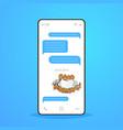 online conversation mobile chat app sending vector image vector image