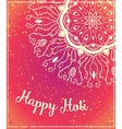 Ornament beautiful card vector image vector image