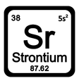 Periodic table element strontium icon vector image vector image