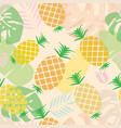 pineapple seamless pattern for textile design vector image