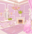 Princess dressing room vector image vector image