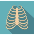 Rib cage icon flat style vector image vector image