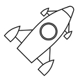 Rocket icon outline style vector image vector image