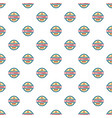 round veterans day pattern seamless vector image vector image