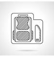 School bag with pencils box line icon vector image vector image