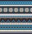 scottish fair isle knitwear pattern vector image vector image