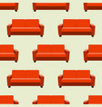 seamless pattern with sofas on background vector image