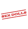 Sex Dolls Watermark Stamp vector image vector image