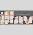 social media banner template editable mockup vector image vector image