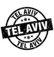 tel aviv black round grunge stamp vector image vector image
