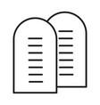 ten commandments icon vector image