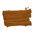 timber isolated vector image