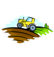 tractor in the field vector image