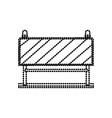 traffic barrier flat icon monochrome dotted vector image vector image