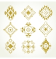 Tribal geometric elements collection vector image vector image