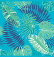 tropical summer pattern with light blue background vector image vector image