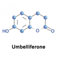 umbelliferone ultraviolet fluorescence absorber vector image vector image