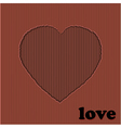 Valentine red heart cardboard cut out vector image vector image