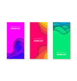 vertical flyers with vivid colors paper cut waves vector image vector image