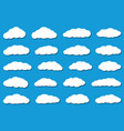 white flat clouds with shadows vector image vector image