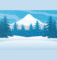 winter forest and mountain vector image vector image