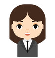 woman avatar with smiling face female cartoon vector image