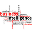 word cloud business intelligence vector image vector image
