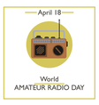 World Amateur Radio Day vector image