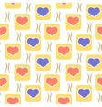 pattern with hearts in squares vector image