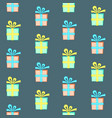 colorful present box with bow seamless pattern vector image