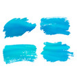 abstract watercolor blue brush strokes isolated on vector image vector image