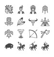 american indian tribe icons vector image vector image