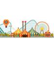 amusement park circus vector image vector image