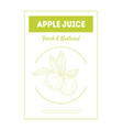 apple juice fresh natural banner template tasty vector image vector image