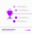 award competitive cup edge prize infographics vector image vector image