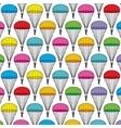 background pattern with parachutes vector image vector image
