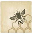 bee old background vector image vector image