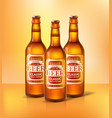 beer classic types of alcoholic beverage vector image vector image