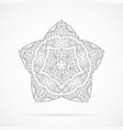 black geometry mandala over white vector image vector image