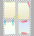 blank paper notes vector image vector image